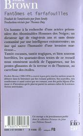 Fantômes et farfafouilles - 4ème de couverture - Format classique