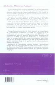 Modeles Statistiques De La Mesure D'Audience Des Medias Audiovisuels - 4ème de couverture - Format classique