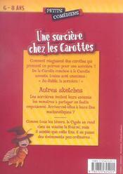 Une sorcière chez les carottes ; et autres sketches ; 6/8 ans - 4ème de couverture - Format classique