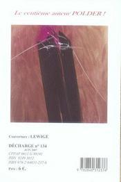 REVUE DECHARGE N.134 ; Juin 2007 - 4ème de couverture - Format classique