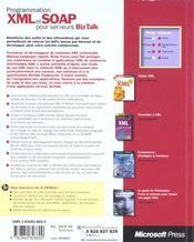 Programmer Xml Et Soap Pour Serveurs Biz Talk - 4ème de couverture - Format classique