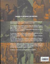 Images D'Archives Des Metiers - 4ème de couverture - Format classique