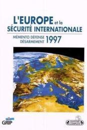 L4europe et la securite internationale - Couverture - Format classique