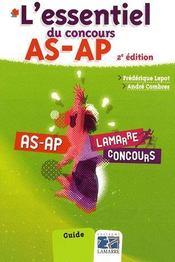 L'essentiel du concours ; AS, AP (2e édition) - Couverture - Format classique
