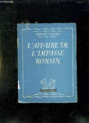 L Affaire De L Impasse Ronsin. - Couverture - Format classique
