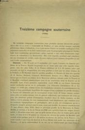 Treizieme Campagne Souterraine (1900). - Couverture - Format classique
