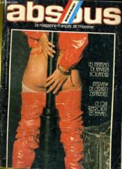 ABSOLU, le magazine français de l'homme N° 8 - LES FANTASMES DE XAVIERA HOLLANDER - INTERVIEW DE GERARD DEPARDIEU - CE QUI REFOIDIT LES FEMMES - Couverture - Format classique