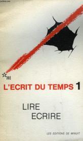 L'Ecrit Du Temps - Couverture - Format classique
