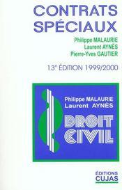 Droit Civil T.8 ; Les Contrats Speciaux ; 13e Edition - Intérieur - Format classique
