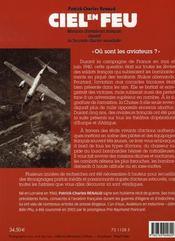 Ciel en feu ; missions d'aviateurs français durant la seconde guerre mondiale, 1939-1945 - 4ème de couverture - Format classique