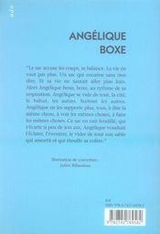Angélique boxe - 4ème de couverture - Format classique
