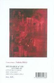 Decharhe no135 - 4ème de couverture - Format classique