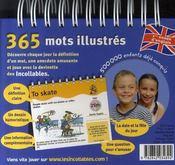Les Incollables ; 365 Mots Drôlement Illustrés ; 1ère Année Anglais - 4ème de couverture - Format classique