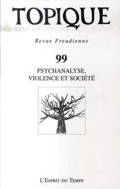 Psychanalyse, violence et société - Intérieur - Format classique