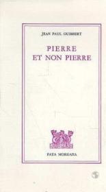 Pierre Et Non Pierre - Couverture - Format classique