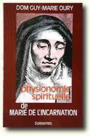 Physionomie spirituelle de Marie de l'Incarnation - Couverture - Format classique