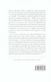 Journal d'un voyageur pendant la guerre - 4ème de couverture - Format classique