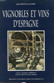 Vignobles et vins d'espagne - Couverture - Format classique