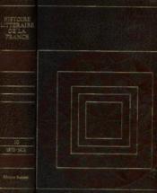 Histoire littéraire de la france tome 10: 1873 1913 - Couverture - Format classique