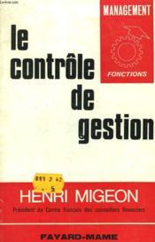 Le Controle De Gestion. - Couverture - Format classique