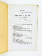 Description d'une mâchoire inférieure de Squalodon Grateloupi dans le grès marin de Léognan (Gironde). [ Edition originale ] - Couverture - Format classique