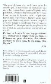 Memoires d'immigres - 4ème de couverture - Format classique
