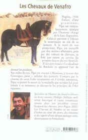 Les chevaux de Venafro - 4ème de couverture - Format classique
