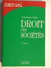 Manuel droit des societes - Intérieur - Format classique