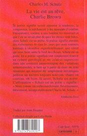 La vie est un reve, charlie brown - 4ème de couverture - Format classique