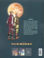 Acriborea t.2 ; les ruines de l'aréopage - 4ème de couverture - Format classique