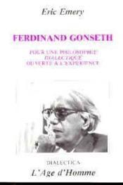 Ferdinand Gonseth - Couverture - Format classique