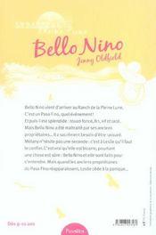 Le Ranch De La Pleine Lune ; Bello Nino - 4ème de couverture - Format classique