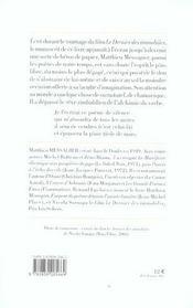 Les transfigurations - 4ème de couverture - Format classique