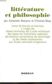 Litterature Et Philosophie - Couverture - Format classique