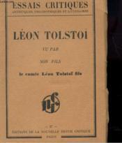 Leon Tolstoï Vu Par Son Fils - Couverture - Format classique