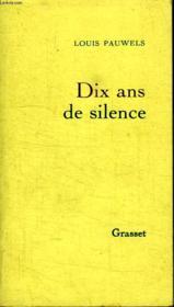 Dix ans de silence - Couverture - Format classique