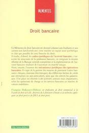 Droit Bancaire ; 7e Edition - 4ème de couverture - Format classique
