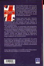 Grammaire Anglaise Appliquee (Ne) - 4ème de couverture - Format classique