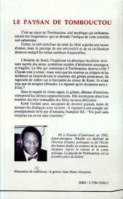Le Paysan De Tombouctou - 4ème de couverture - Format classique