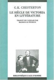 Siecle de victoria en litterature (le) - Couverture - Format classique