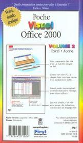 Poche Visuel Office 2000 T.2 - 4ème de couverture - Format classique