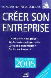CREER SON ENTREPRISE (édition 2005) - Intérieur - Format classique