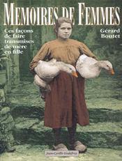 Memoires de femmes ces facons de faire transmises de mere en fille - Intérieur - Format classique