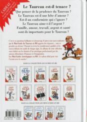 Les mini-guides en bd t.6 ; le mini-guide astro du taureau - 4ème de couverture - Format classique