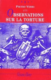 Observations sur la torture - Intérieur - Format classique