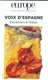 Europe Voix D Espagne N?852 - Intérieur - Format classique