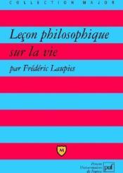 Leçon philosophique sur la vie - Couverture - Format classique