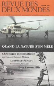 Revue Des Deux Mondes N.1 ; Quand La Nature S'En Mèle - Couverture - Format classique