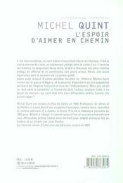 L'Espoir D'Aimer En Chemin - 4ème de couverture - Format classique