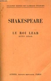 Le Roi Lear (King Lear) - Couverture - Format classique